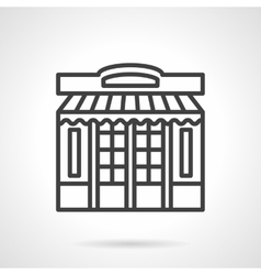 Store front simple line icon vector image