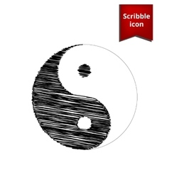 Ying yang symbol of harmony vector