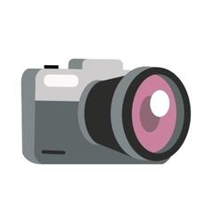 Photo Camera in Flat Design vector image