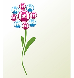 Social media people flower vector