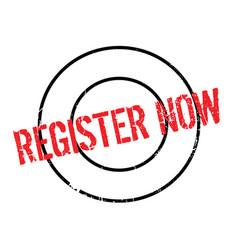 register now rubber stamp vector image