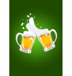Two beer mug vector
