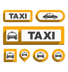 Taxi Icons and Buttons vector image