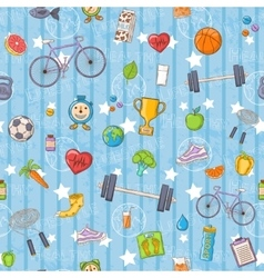 Healthy lifestyle pattern vector image
