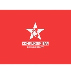 Communism style logo restaurant bar vector
