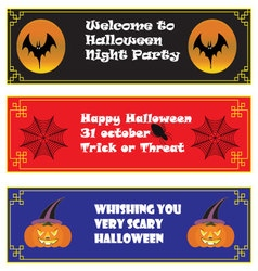 Halloween background on chinese frame horizontal vector