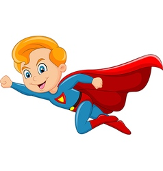 Cartoon superhero boy isolated on white background vector