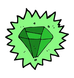 Comic cartoon emerald vector