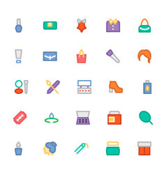 Fashion colored icons 5 vector