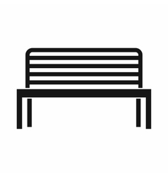Bench icon simple style vector