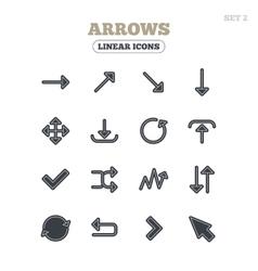 Arrow download refresh and fullscreen symbols vector image