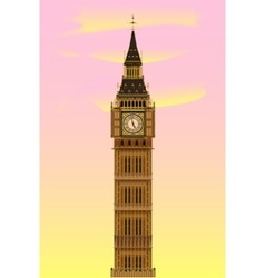 Big ben at dawn vector