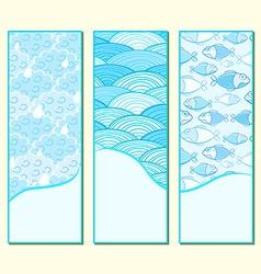 Blue Banner Set vector image vector image