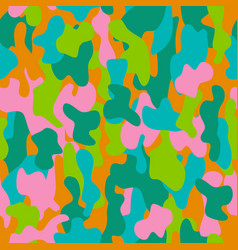Camouflage seamless pattern in a pink blue vector