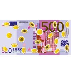 Coins Rain euro vector image vector image