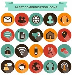 Communication shadow icons vector