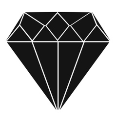 Diamond icon simple style vector image