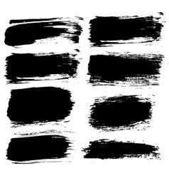 Different brush strokes backgrounds set vector
