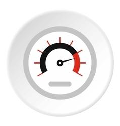 Exclusive speedometer icon flat style vector