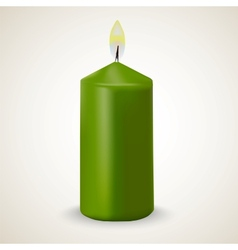 Fire green candle isolated vector