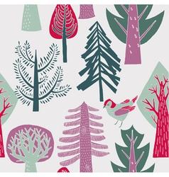 Flat forest wallpaper vector