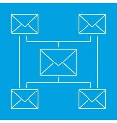 Globe email newsletter pictogram vector