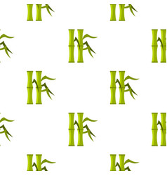 Green bamboo stems pattern seamless vector