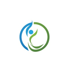 Health logo template vector