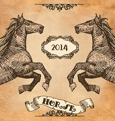 Horse head-style prints vector