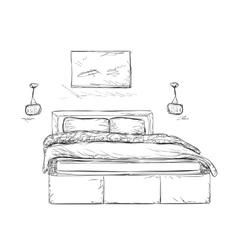 Interior design of the classic bedroom vector image
