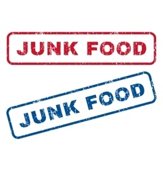 Junk food rubber stamps vector