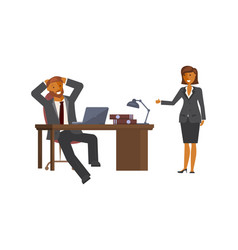 manager woman talking vector image