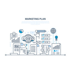 marketing plan business advertising e-commerce vector image vector image