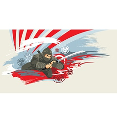 ninja 01 01 vector image