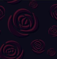 Pattern of dark indigo roses vector