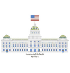 Pennsylvania state capitol vector