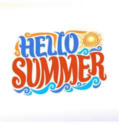 poster for summer season vector image vector image