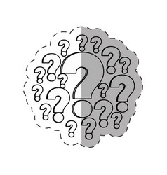 Question mark image outline vector