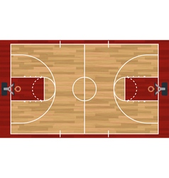 Realistic basketball court vector