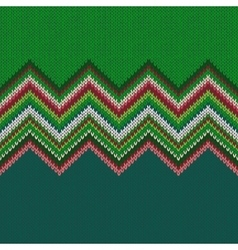 Seamless Christmas geometric knitted pattern vector image vector image