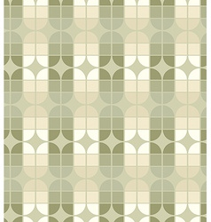 Seamless geometric tiles pattern in vintage style vector image