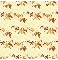 Seamless pattern with autumn wild grape vector