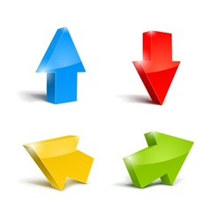 set of icons pointer arrows 3d vector image