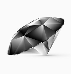 shiny white diamond vector image vector image