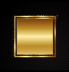square frame shining banner isolated on vector image vector image