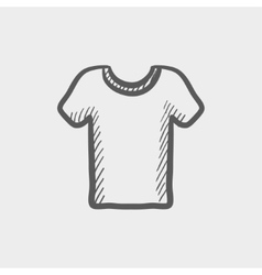 T-shirt sketch icon vector image