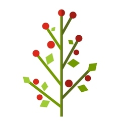 Tree with berries flat icon vector image
