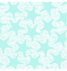 Turkuoise starfish pattern with stripes vector