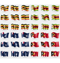 Uganda zimbabwe french and antarctic east timor vector