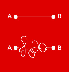 way from point a to b vector image vector image
